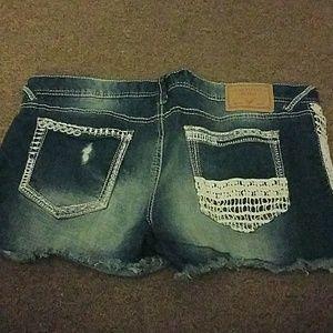 Amethyst Jeans Shorts - Shorts